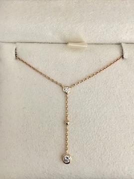 ヴァンドーム青山 ダイヤモンド ネックレス K18YG 0.11ct