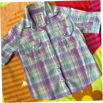 #丸高衣料#半袖シャツ 120シワ加工可愛いです