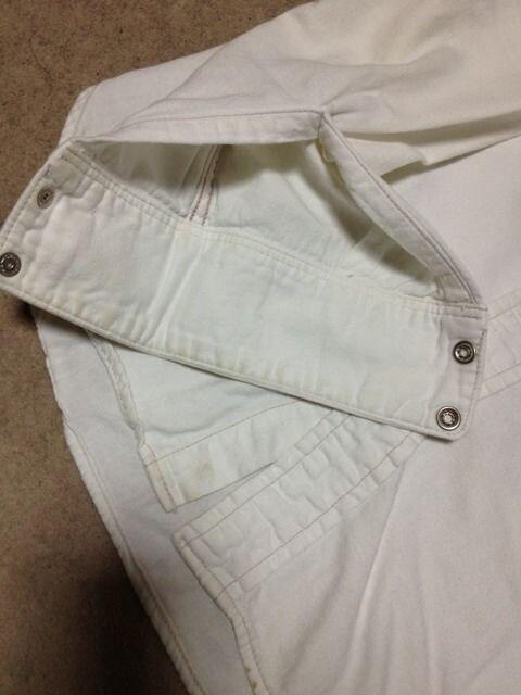 ブルーブルー 長袖 ウエスタンシャツ Sサイズ1 無地 白 日本製 ハリウッドランチマーケット < ブランドの