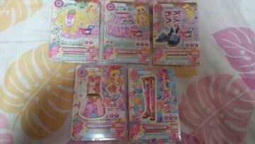 アイカツ☆2014年第4〜5弾エンジェリーシュガー5枚セット売り☆いちご