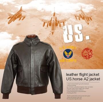 USモデル:ホースハイドUS.A2フライトジャケットS-XL