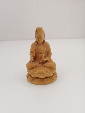 8cm お酒 木彫り 観音菩薩