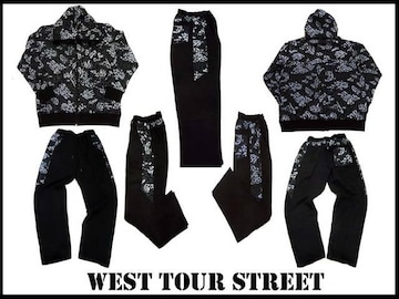 XXL&XXXL 新品セットアップ west tour street 新柄  黒 2XL・3XL