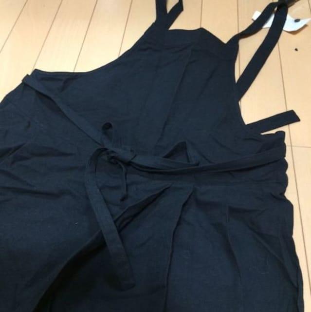 新品◆マオメイド◆変形はかまワイドサロペットパンツ◆ブラック < 女性ファッションの