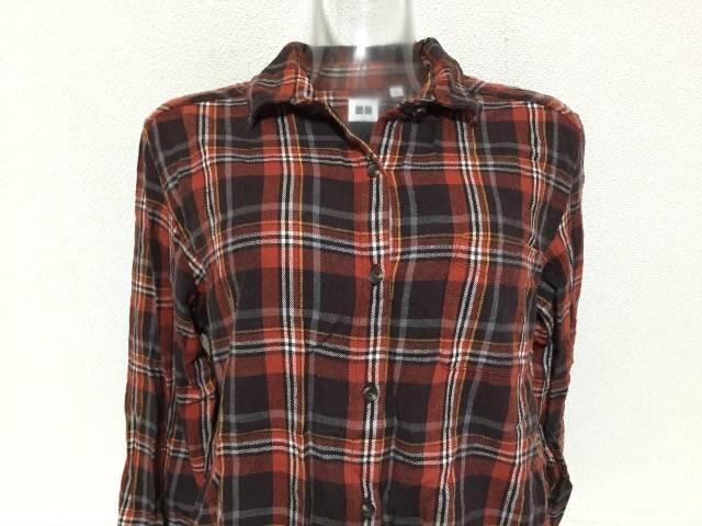 #UNIQLOチェックシャツ☆XL < ブランドの
