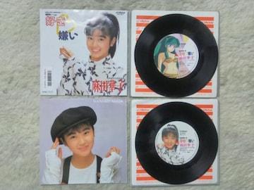 シングルレコード 麻田華子 好き嫌い'88 うる星やつらED曲 レーベル違い