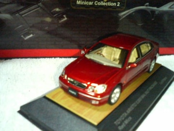 トサ 1/43  トヨタ アリスト JZS160型 S300  ウォールナットパッケージ   レッドマイカ