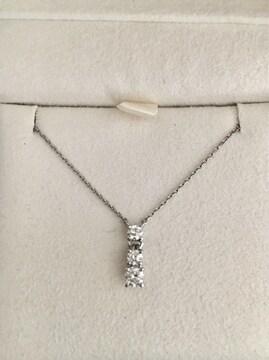 スタージュエリー ダイヤモンド ネックレス Pt950 0.33ct 3.2g