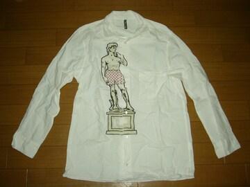 フラボアFRAPBOISプリント長袖シャツ1白テルマエロマエ彫刻
