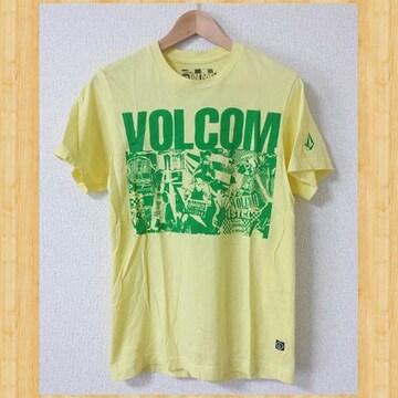 VOLCOM ボルコム Tシャツ S イエロー サーフ スケート スノーボード BMX