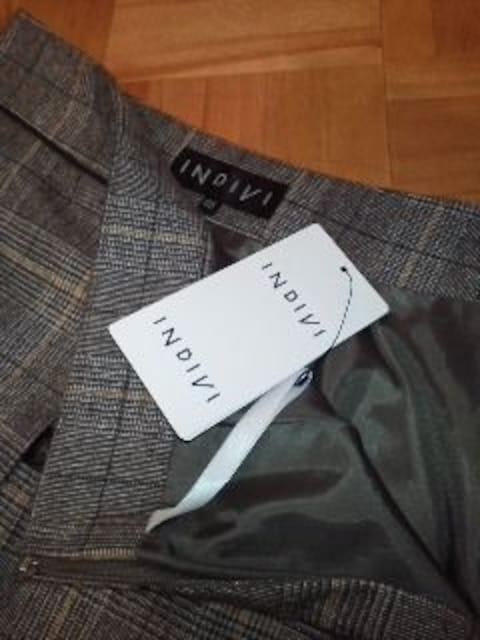 INDIVI気品あるスカート売価16275円値札付/送料180円 < ブランドの
