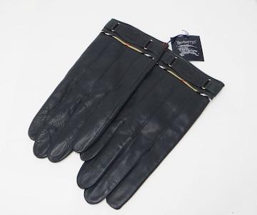 Burberrys バーバリー ラム メンズ グローブ 手袋 ブラック 未使用 送料無料