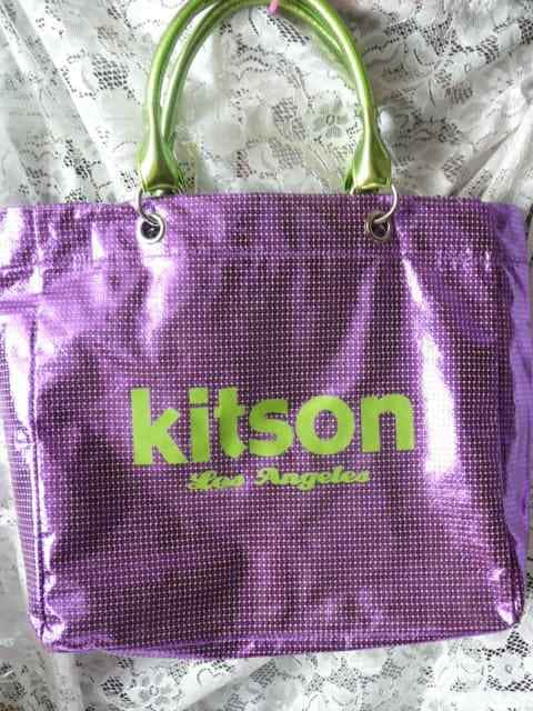 キットソン キラキラトートーバッグ紫  < ブランドの