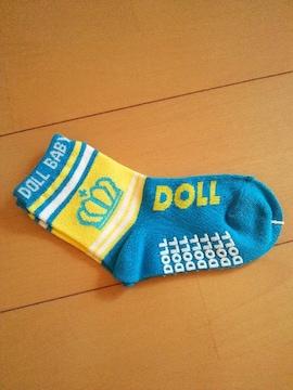新品靴下/ターコイズブルー13〜15�pベビドBABYDOLLベビードール