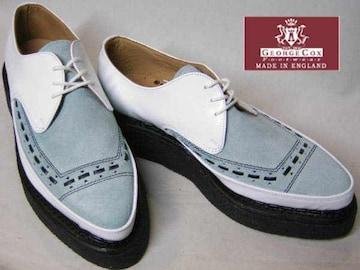 ジョージコックス パンク ロック トンガリ靴3705白アイスuk9