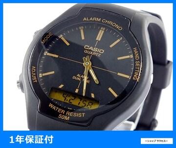 新品 即買い■カシオ スタンダード アナデジ 腕時計 AW-90H-9E