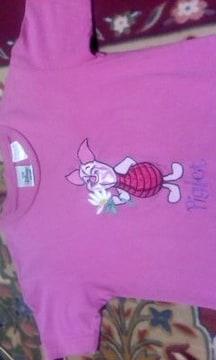 ディズニーストアー購入Piglet胸元刺繍超可愛いTシャツ