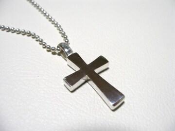 仁尾彫金『フラットシルバークロス』十字架ハンドメイド90b