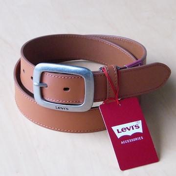 LEVI'S リーバイス 牛革 ベルト 35mm 6491   ライトブラウ