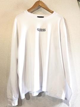GUESS■ロングTシャツ■ビッグサイズ■バックプリント■ゲス■白