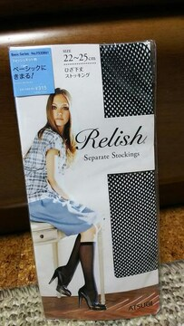 Relish ひざ下ストッキング 靴下 ATSUGI 新品 ハイソックス
