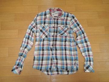 ヒステリックグラマーHYSTERIC GLAMOURチェックシャツS麻混