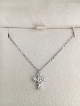 ヴァンドーム青山 ダイヤモンド クロス ネックレス Pt900 0.30ct