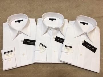 長袖ワイシャツ新品  白無地 3枚セットLサイズ