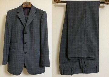 BURBERRY グレンチェック柄スーツ 38R ブラックレーベル ノータック