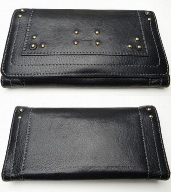 クロエ パディントン 二つ折り長財布 ブラック【送料無料】 < ブランドの