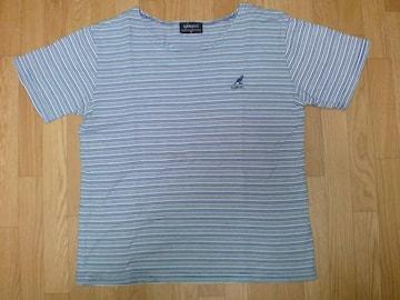 ☆KANGOLカンゴール 白水紺ボーダーTシャツ