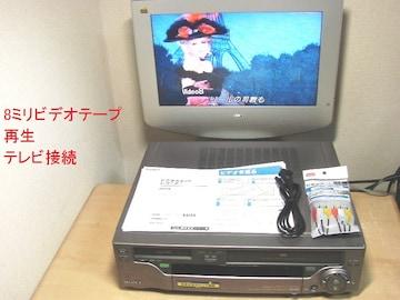 VHS+8ミリビデオデッキWV-BS2送料無料No355