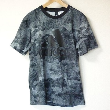 新品◆送料無料◆adidas 黒ESSENIALS COMO Tシャツ(M)