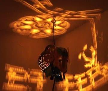 吊り下げブリキランプ 象さん ぞう ゾウ 天井に映る灯 素敵