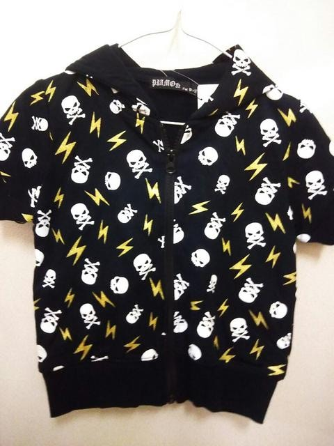 ドクロ柄 パーカー&Tシャツセット 110 < キッズ/ベビーの