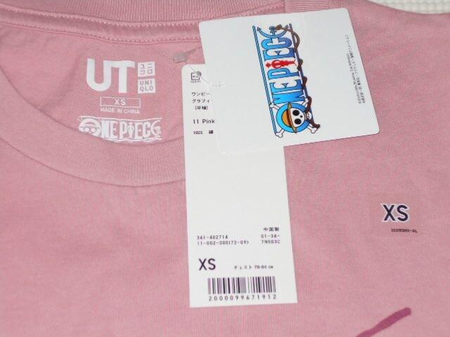 UNIQLO ONE PIECE チョッパー 半袖Tシャツ ピンク XSサイズ < ブランドの