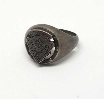 正規グッチリング指輪クレスト紋章25 約24号メンズSV925