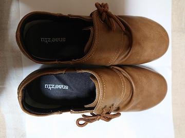 靴、24.5�p、茶色(2回はいただけ)