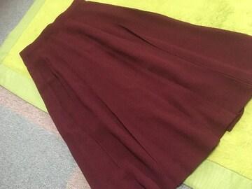 ボルドーフレアスカート☆美品