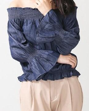 ☆新品 WEGO インディゴ オフショルTOP☆M