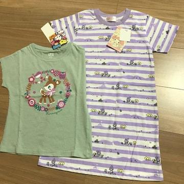 新品110 Tシャツ ワンピース サンリオマイメロハミングミント.10
