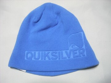 mb863 男 QUIKSILVER クイックシルバー ニット帽 青