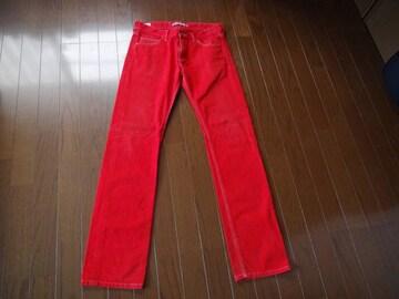 ラコステの赤のジーパン(79)日本製!