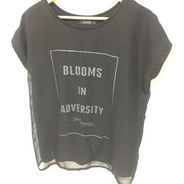 #ロゴTシャツ ブラック L