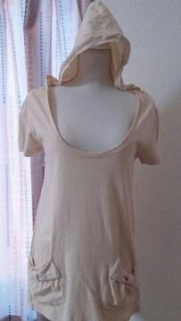 OLIVE des OLIVE フード付半袖Tシャツ