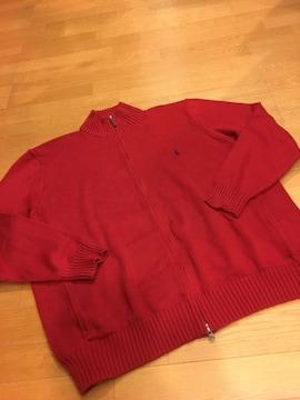 Ralph Lauren  ラルフ・ローレン  ジップセーター  赤 size3XL