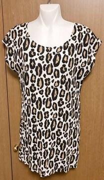 19】H &M ヒョウ柄 Tシャツ 32サイズ