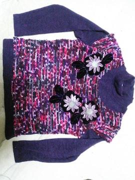 花のハイネック長袖