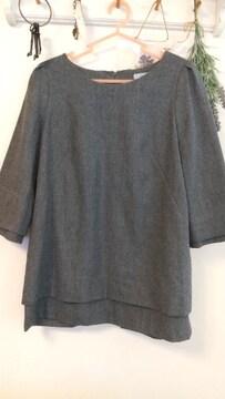 Lass bloom*(LAUTREAMONT)袖裾2枚重ね素敵プルオーバー/13AR