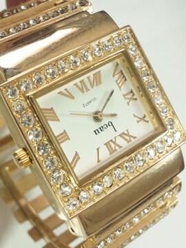 12401/beauキラキラ素敵なブレスレット型デザインのレディース腕時計オススメ